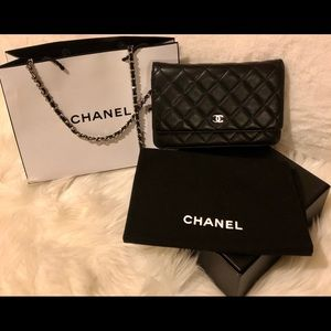 🖤Chanel WOC Black Lambskin Shoulder Bag Authentic